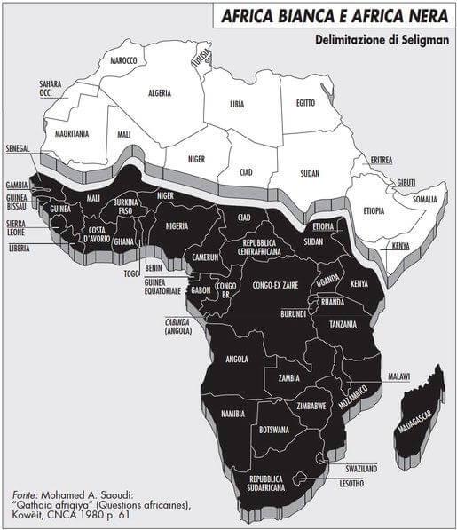 Cartina Dell Africa In Bianco E Nero.Africa Bianca E Africa Nera