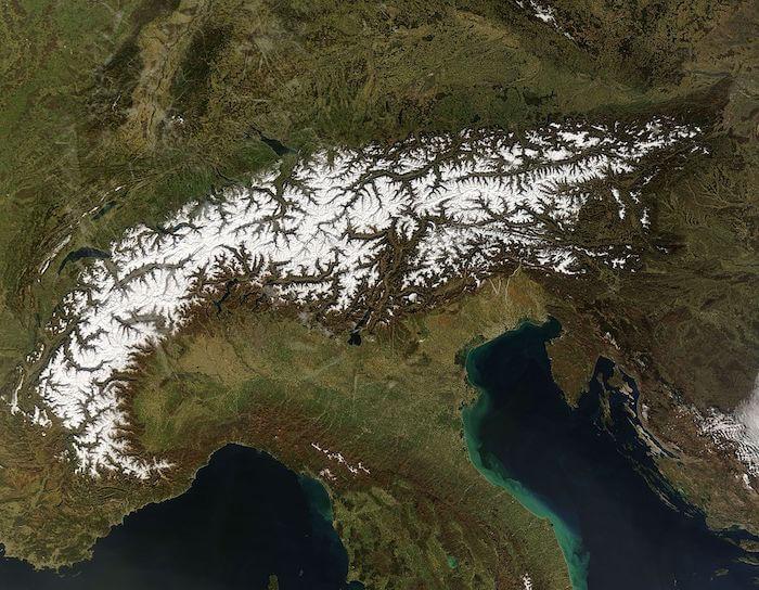 Cartina Dell Italia Alpi E Appennini.Alpi E Appennini
