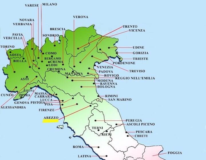 Cartina Geografica Di Arezzo.Dove Si Trova Arezzo
