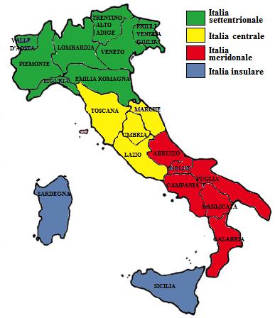 Cartina Nord Italia Con Regioni.Regioni Del Nord