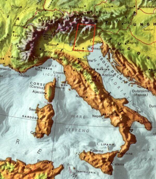 Cartina Dellitalia Alpi E Appennini.Alpi E Dolomiti