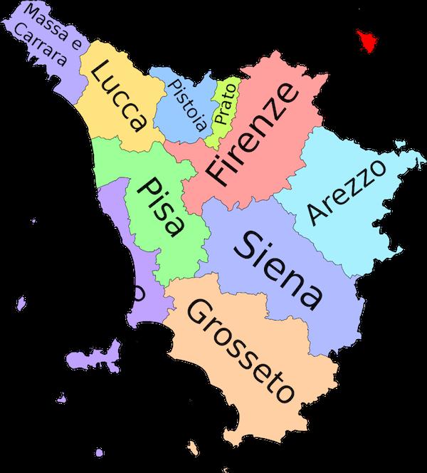 Cartina Toscana Provincia Di Siena.Dove Si Trova Arezzo
