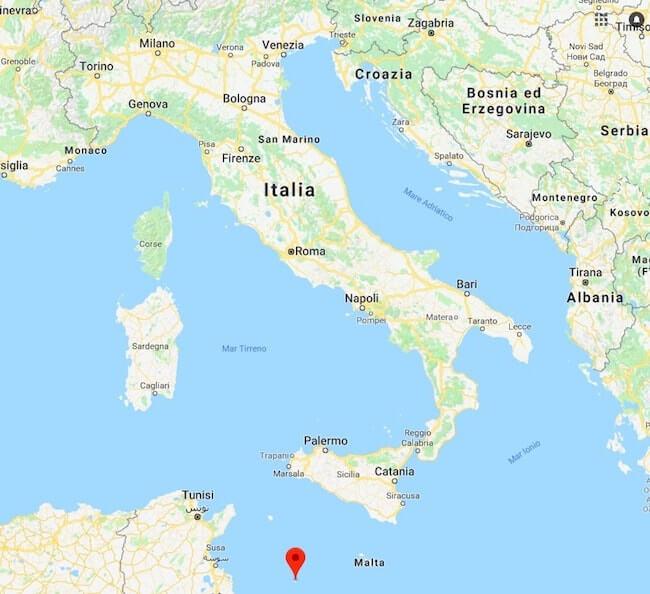 Cartina Geografica Lampedusa.Punto Piu A Sud Dell Italia
