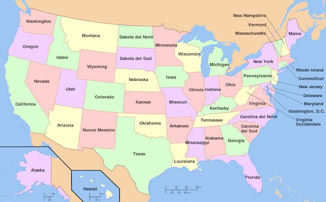 Quanti sono gli stati americani for Deputati e senatori quanti sono